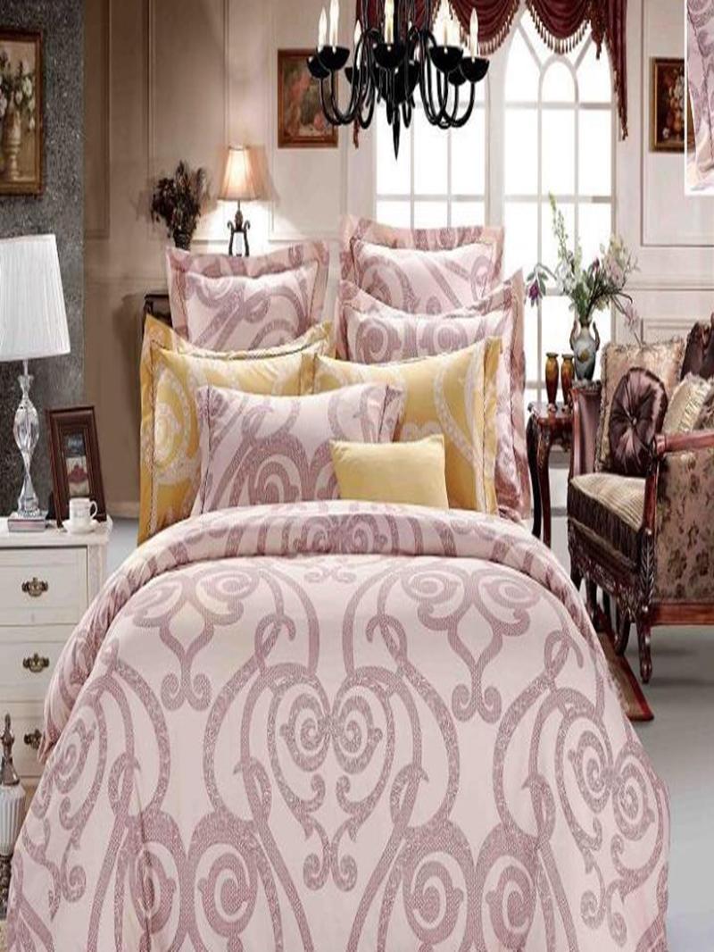 Vivilinen Courtyard Floral Pattern 4-Piece Polyester Duvet Cover Sets