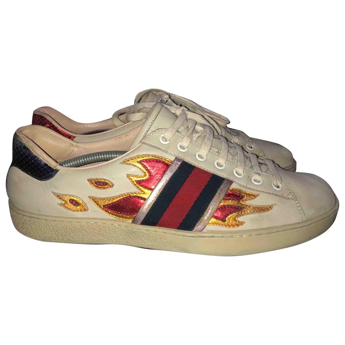 Gucci - Baskets Ace pour homme en cuir