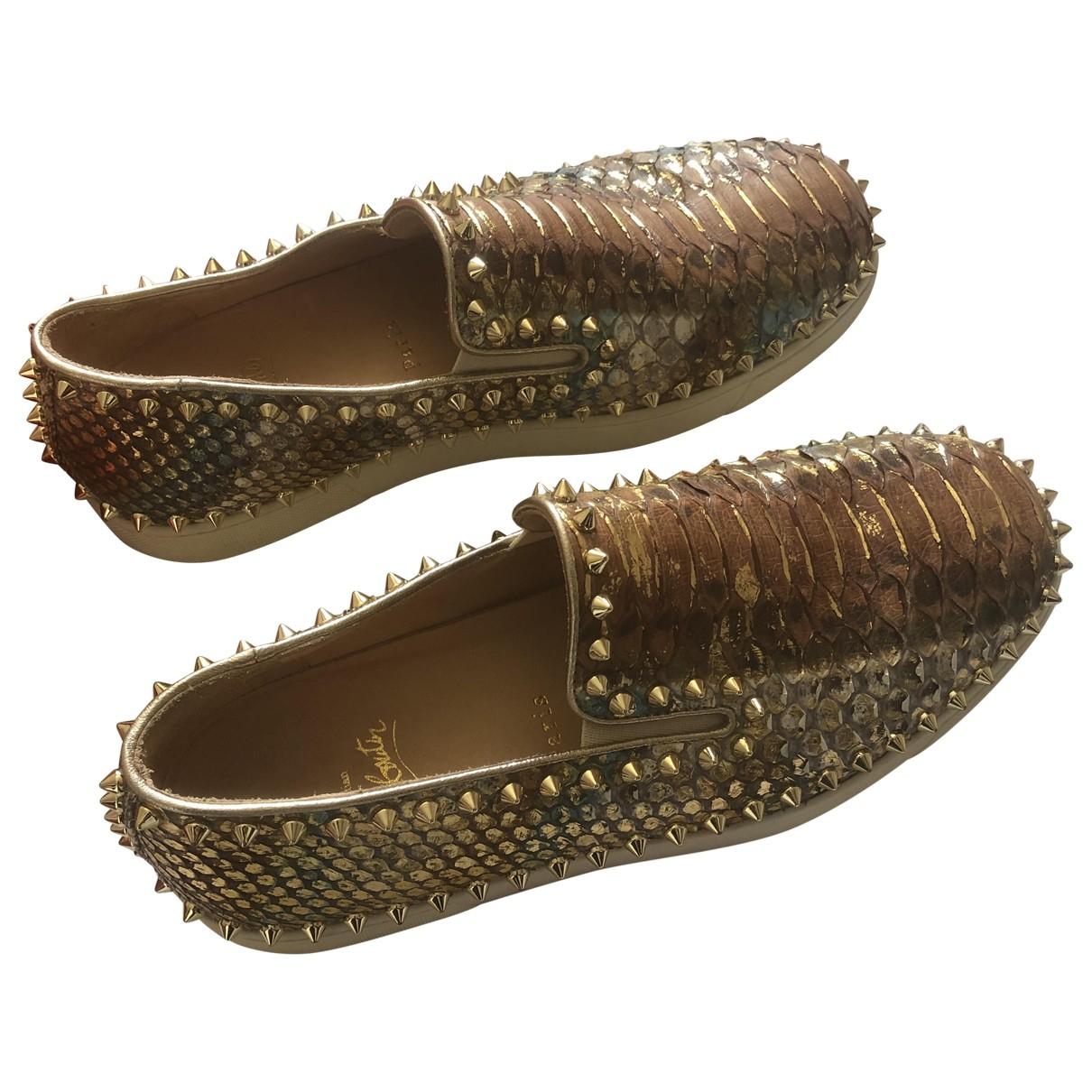 Christian Louboutin \N Sneakers in  Bunt Mit Pailletten