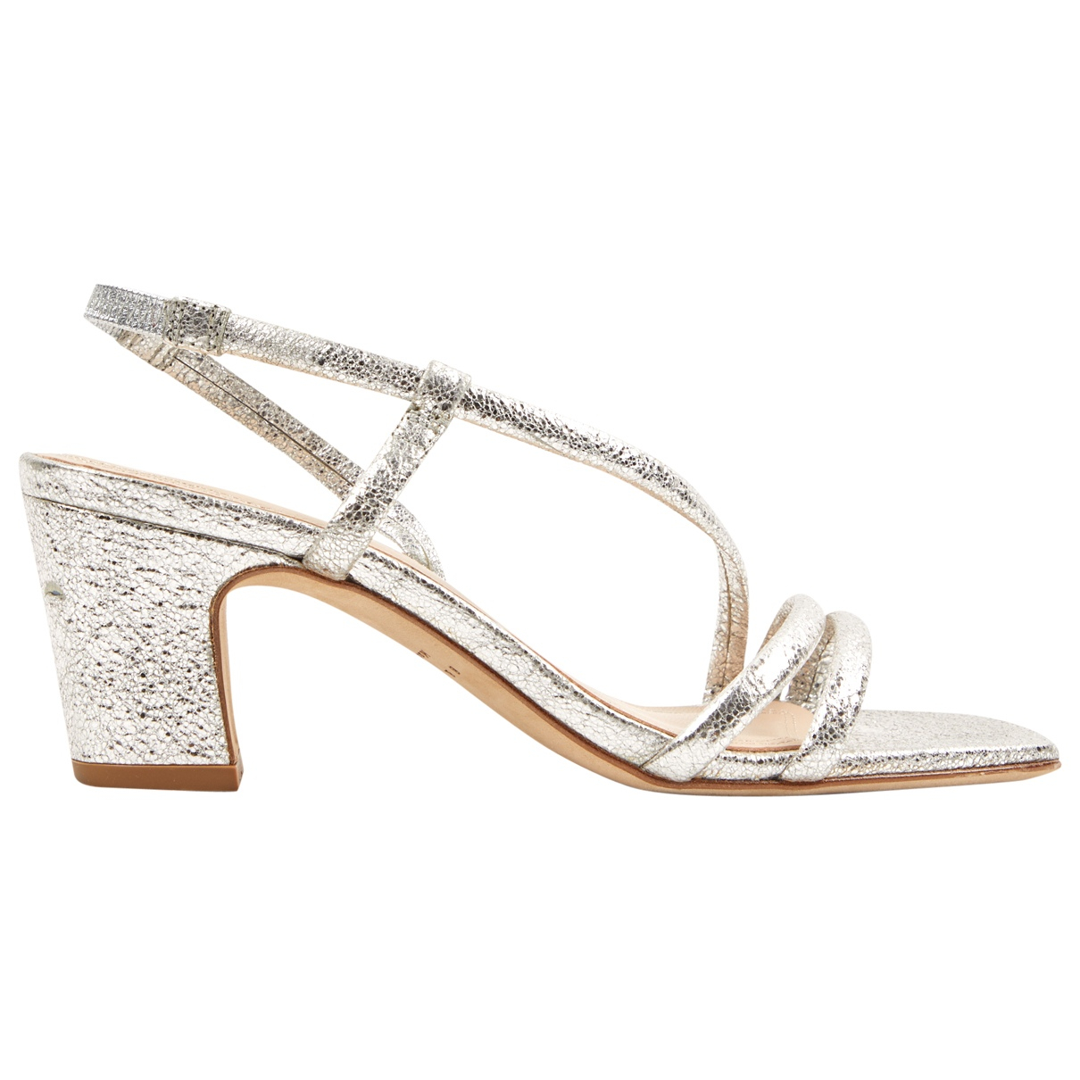 Sandro \N Silver Leather Sandals for Women 36 EU