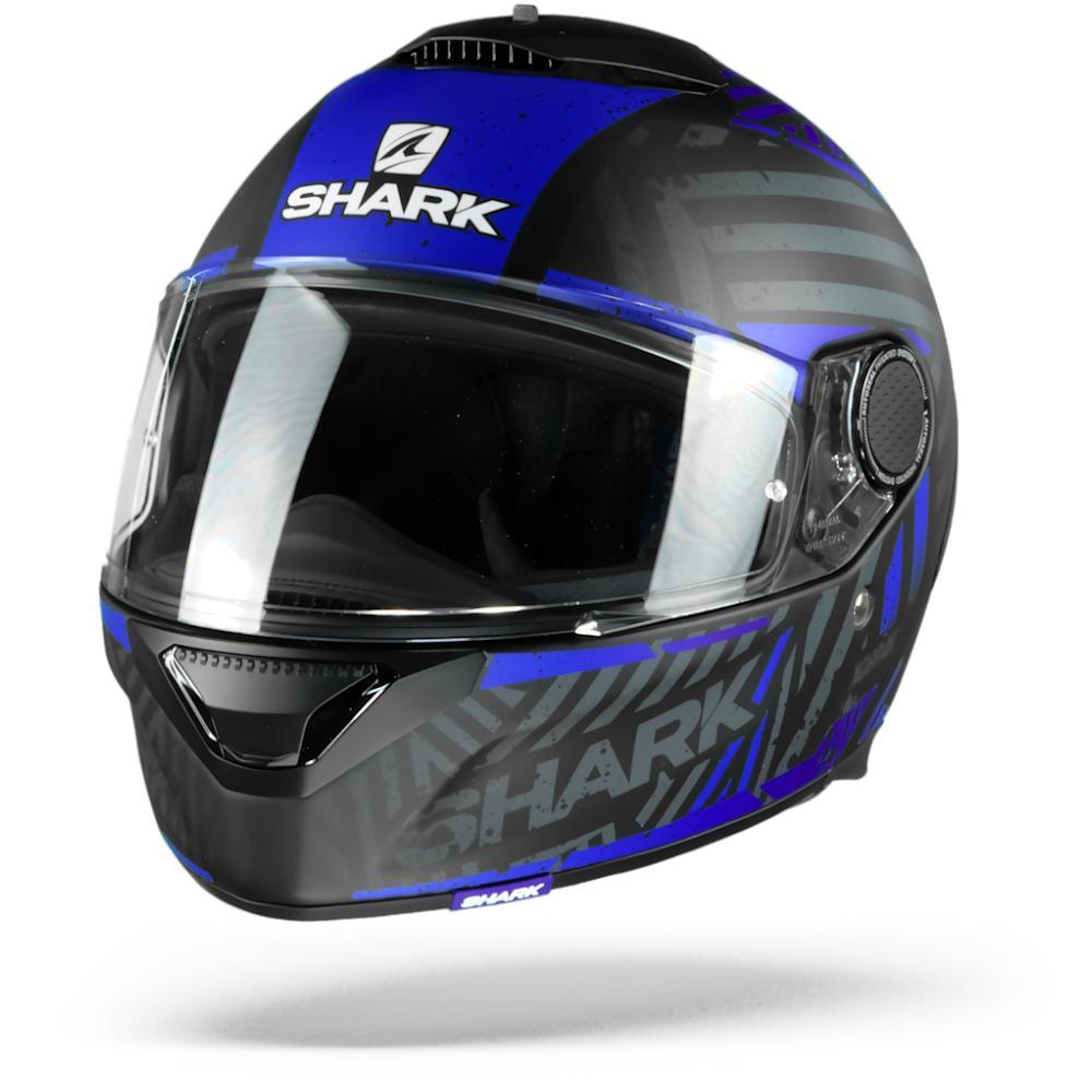 Shark Spartan 1.2 Kobrak Casco Integral (Full Face) Negro Matte Azul KBB 2XL