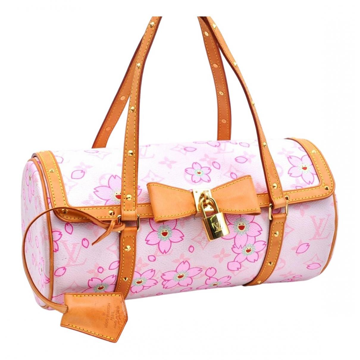 Louis Vuitton Papillon Handtasche in  Rosa Leinen