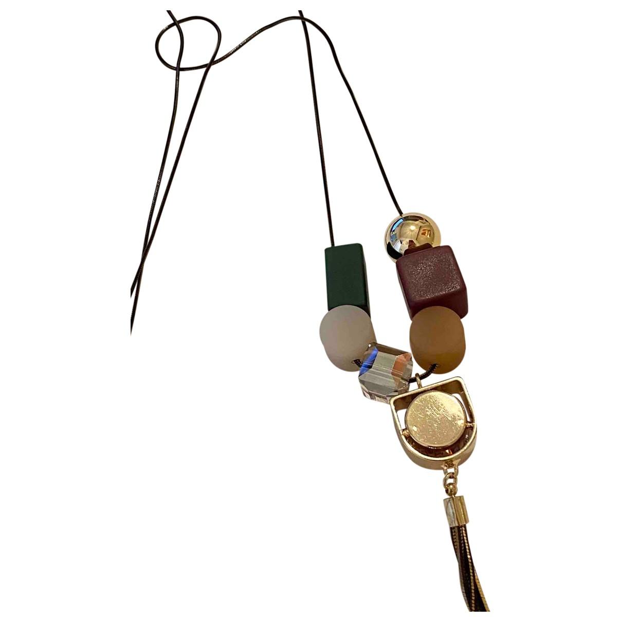 Non Signé / Unsigned N Multicolour Metal pendant for Women N