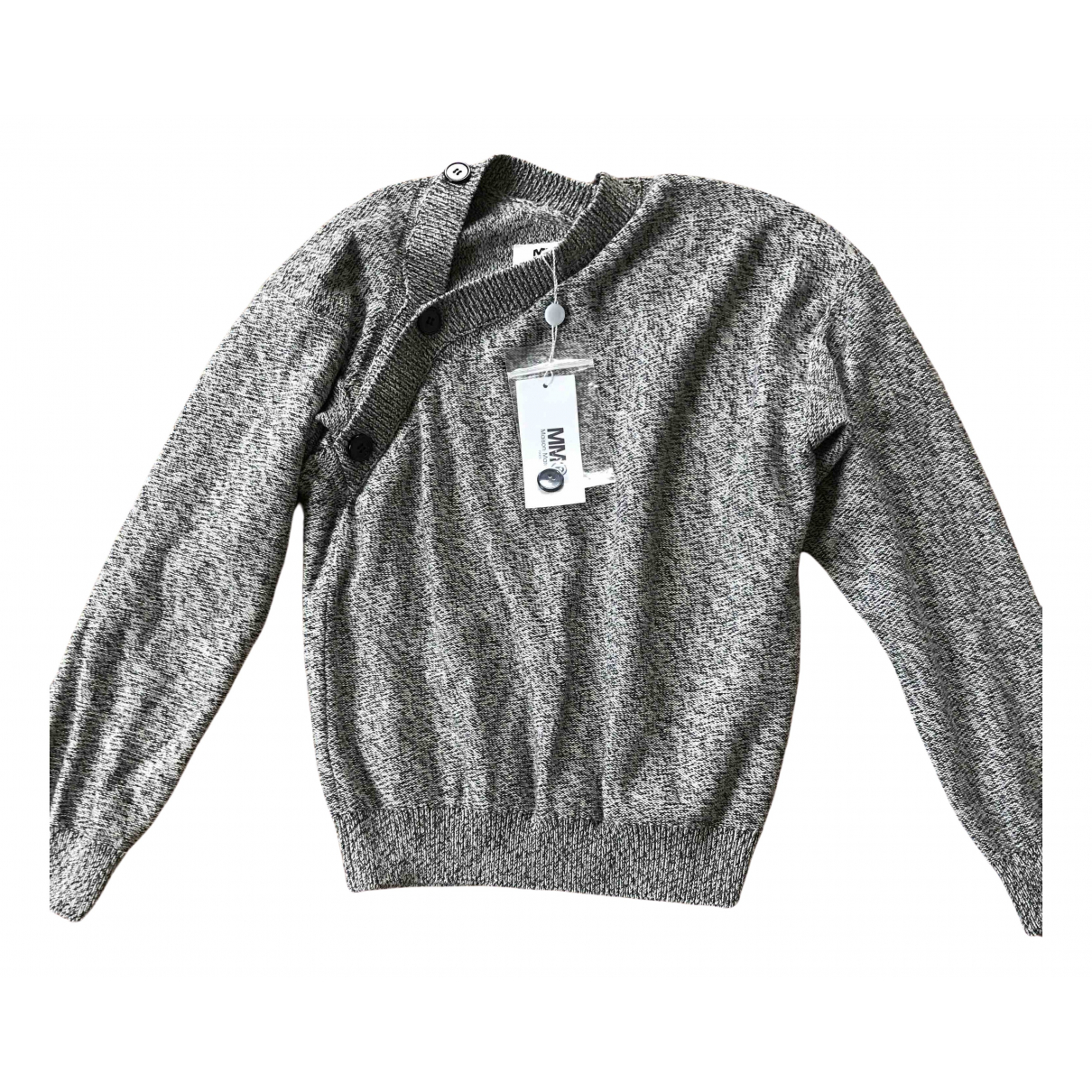 Mm6 - Pull   pour femme en coton - gris