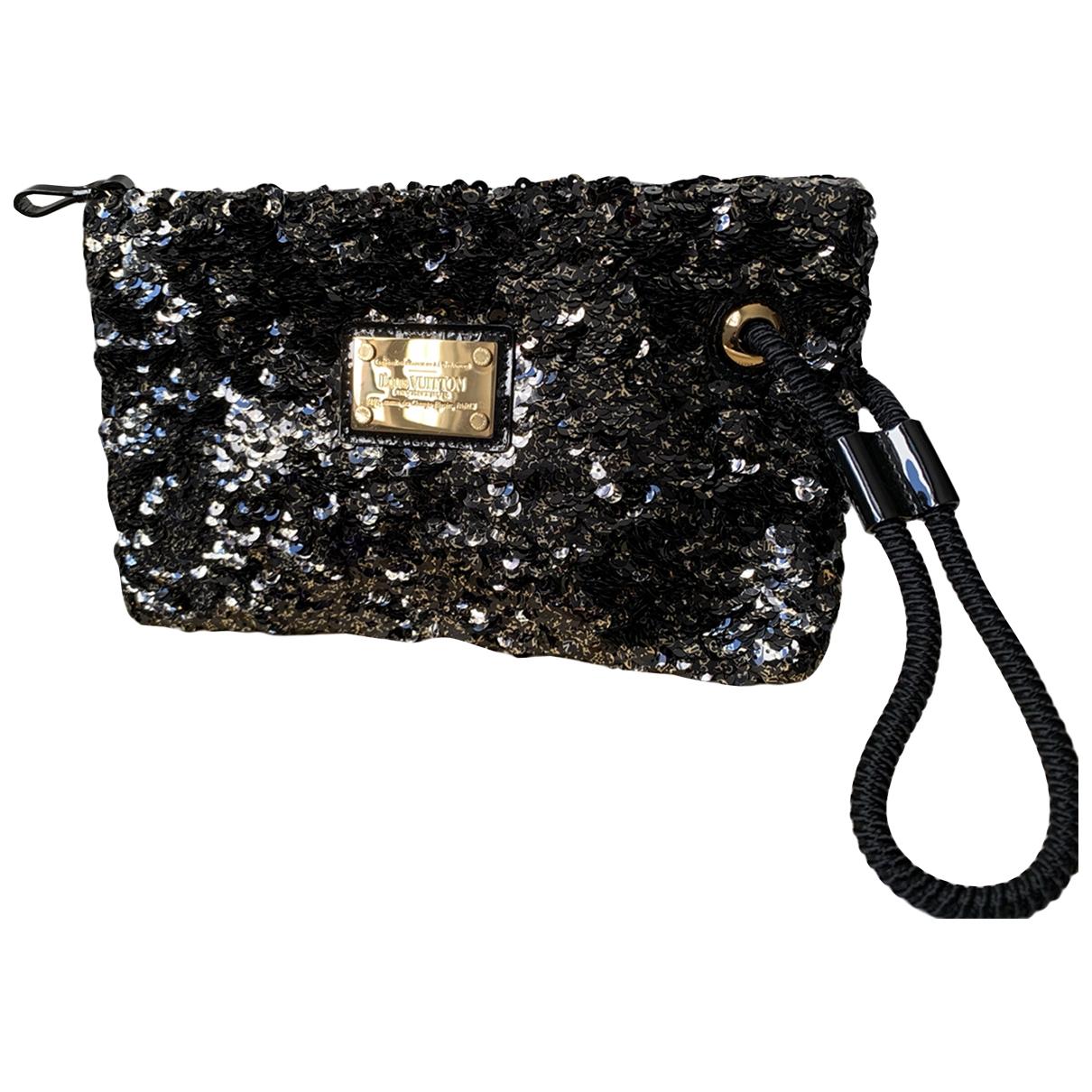 Louis Vuitton - Pochette   pour femme en a paillettes - noir