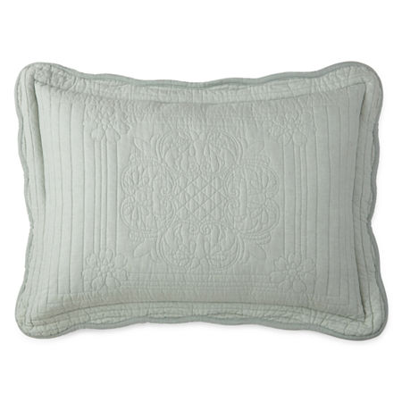 Home Expressions Everly Pillow Sham, One Size , Green