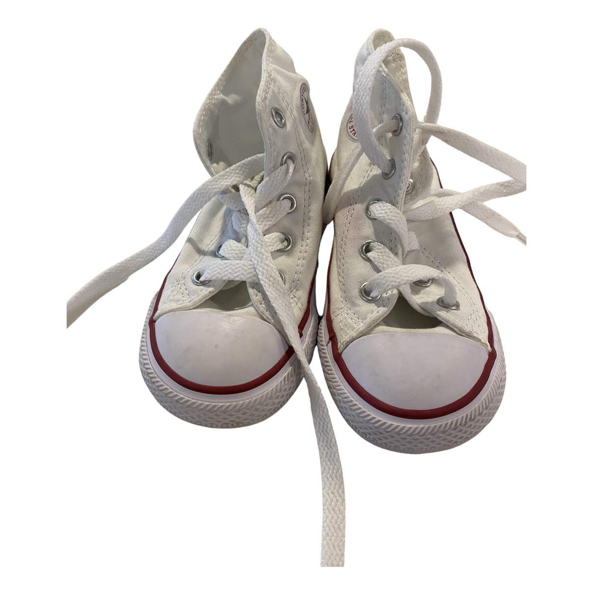 Converse N White Cloth Trainers for Kids 8 US