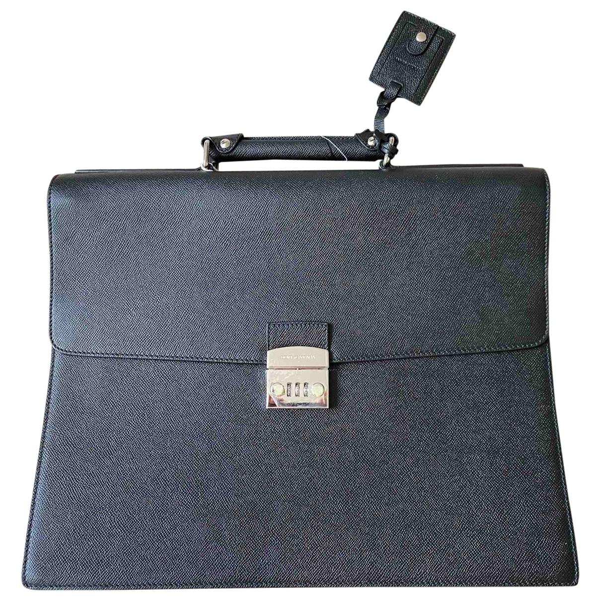Dolce & Gabbana - Sac   pour homme en cuir - noir