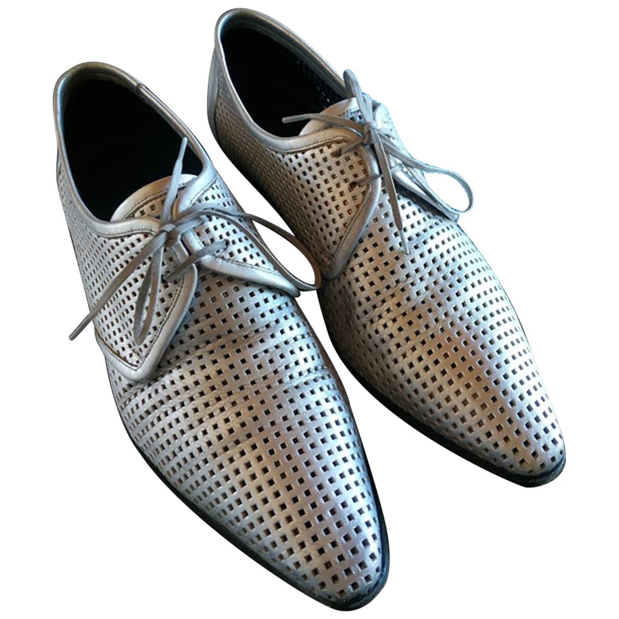 Dior \N Schnuerschuhe in  Metallic Leder