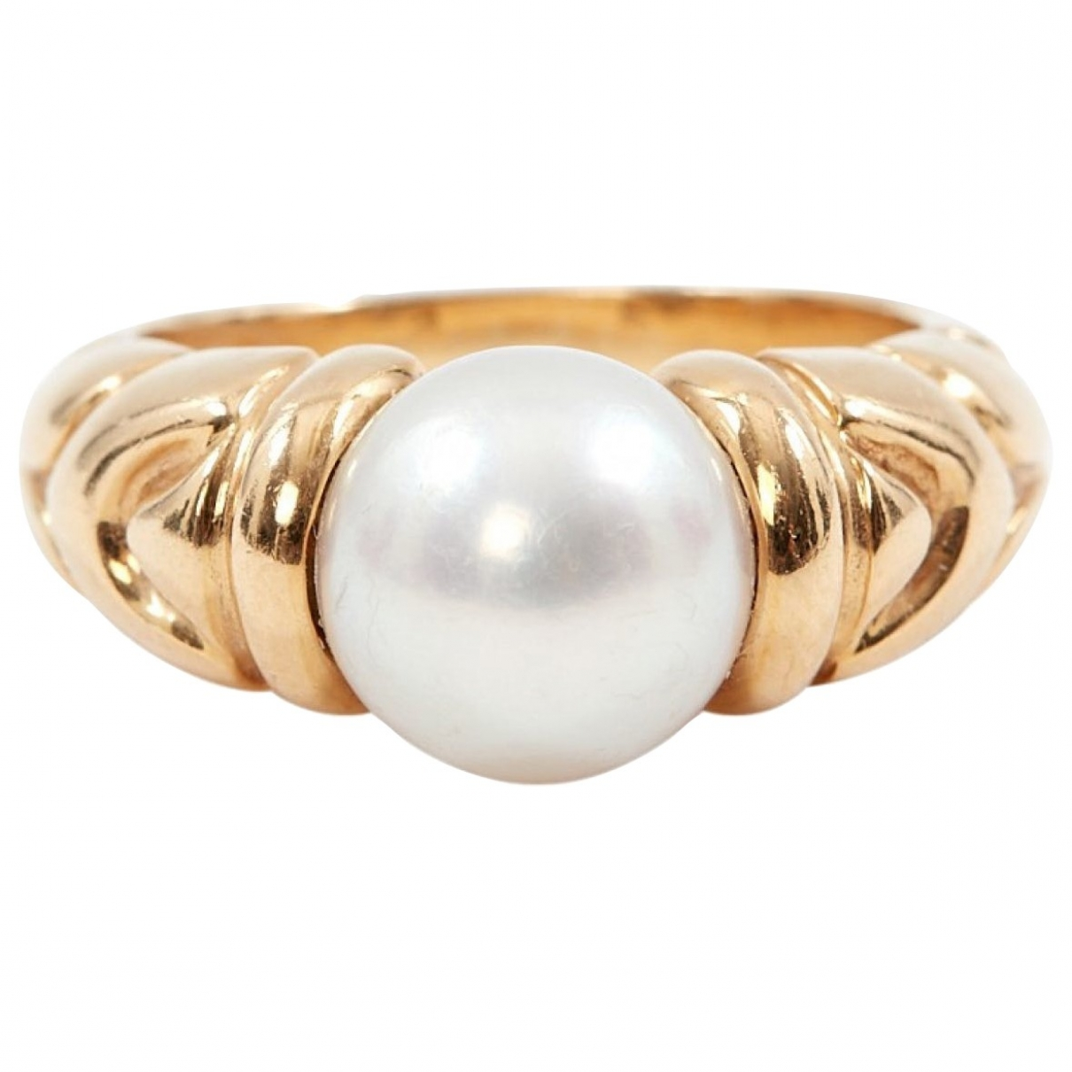 Bvlgari \N Ring in  Weiss Gelbgold