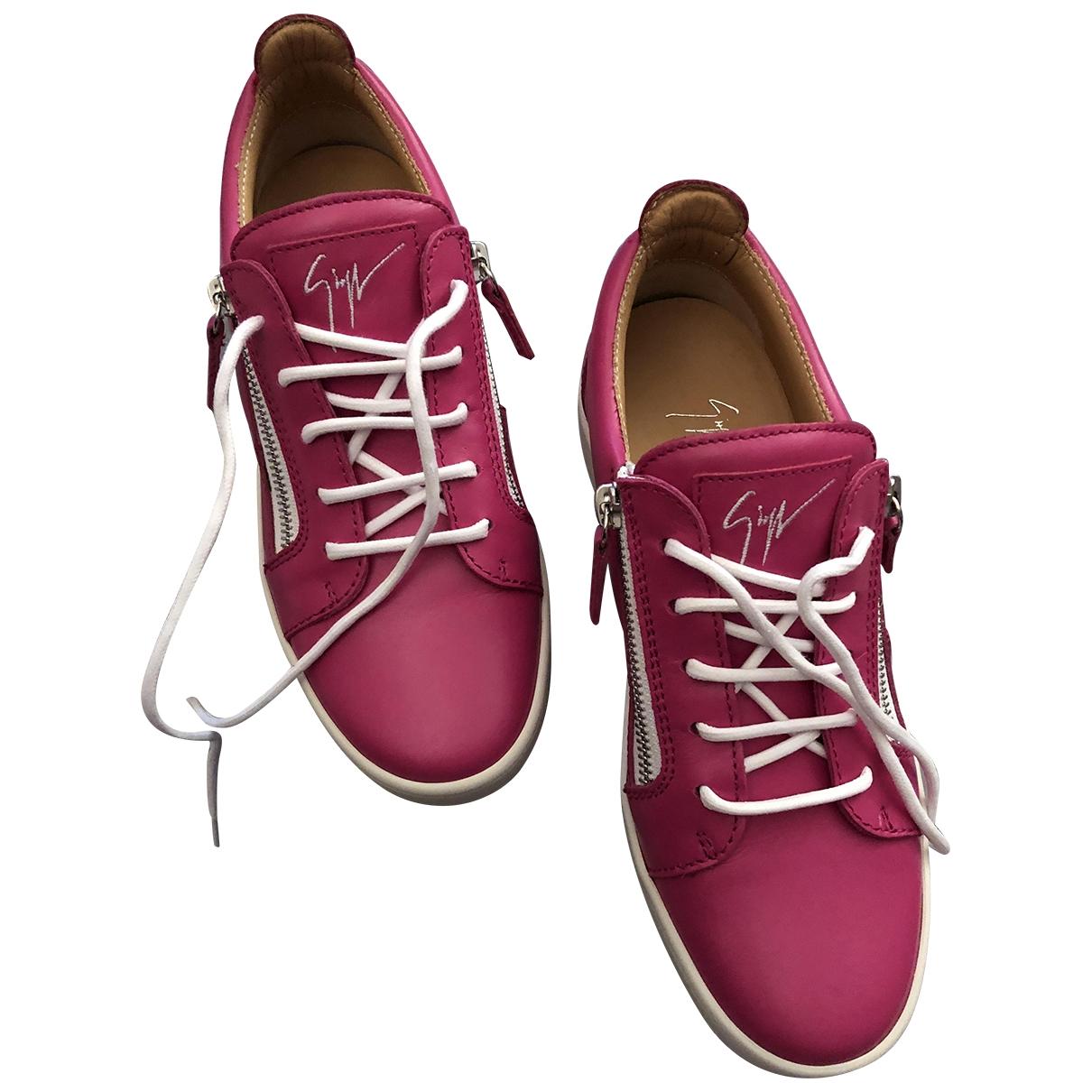 Giuseppe Zanotti - Baskets Nicki pour femme en cuir - rose