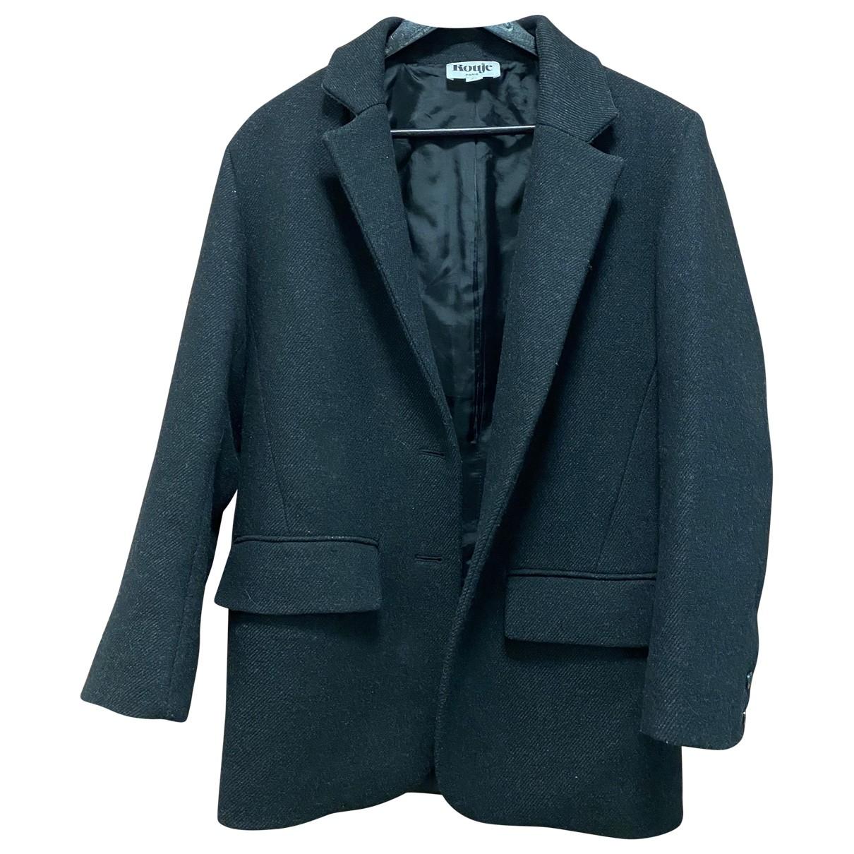 Rouje - Veste   pour femme en laine - noir