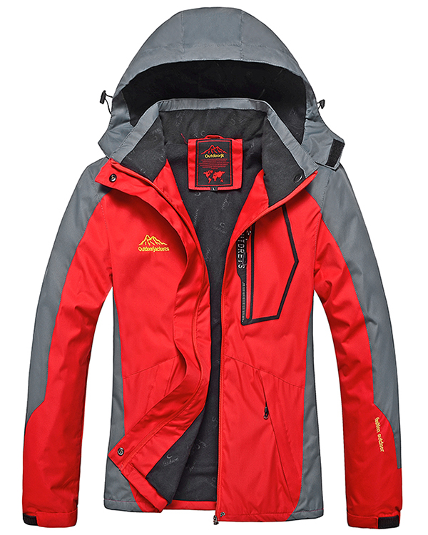 Female Polyester Outdoor Windproof Zip-Front Thermal Jacket