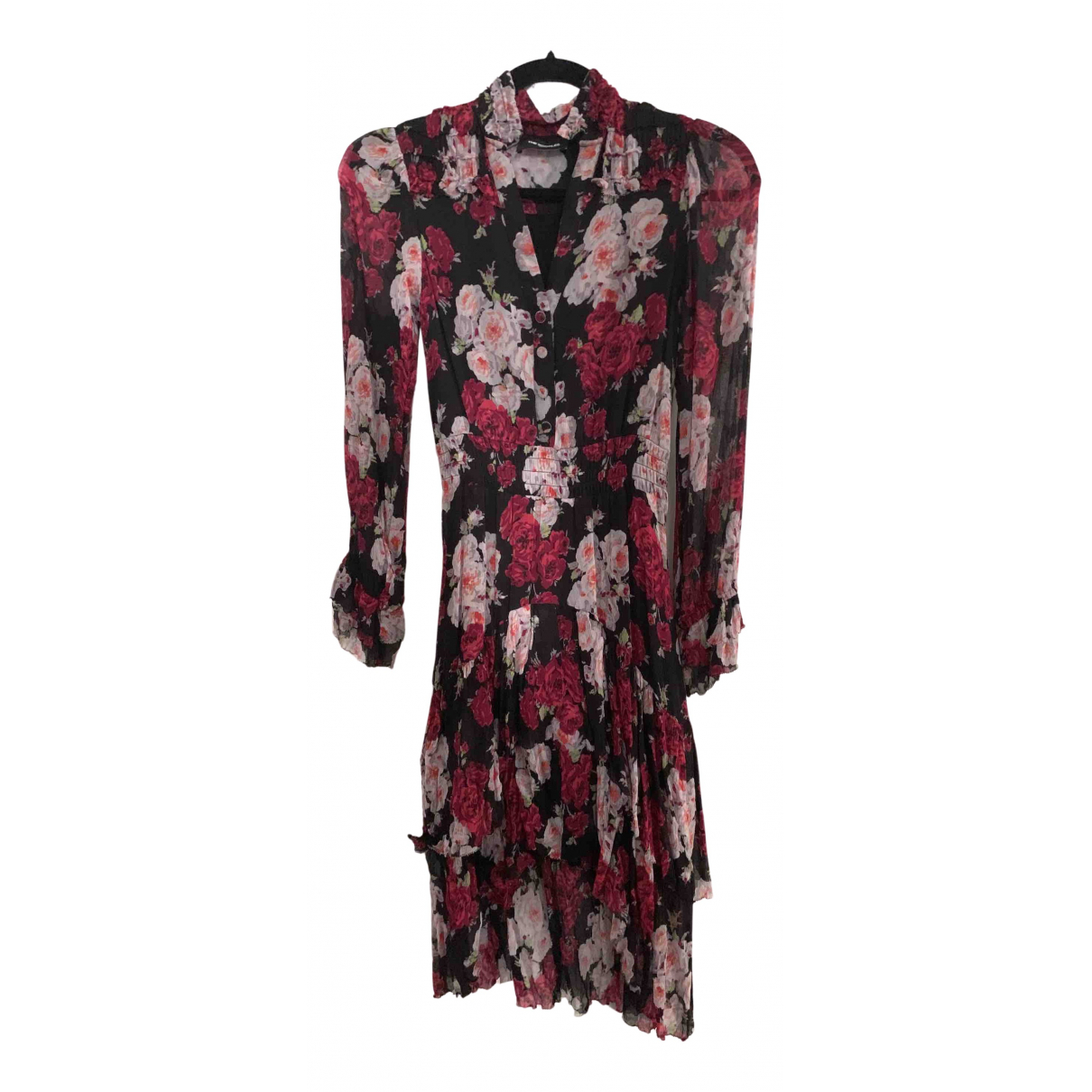 The Kooples Spring Summer 2019 Kleid in  Bordeauxrot Polyester
