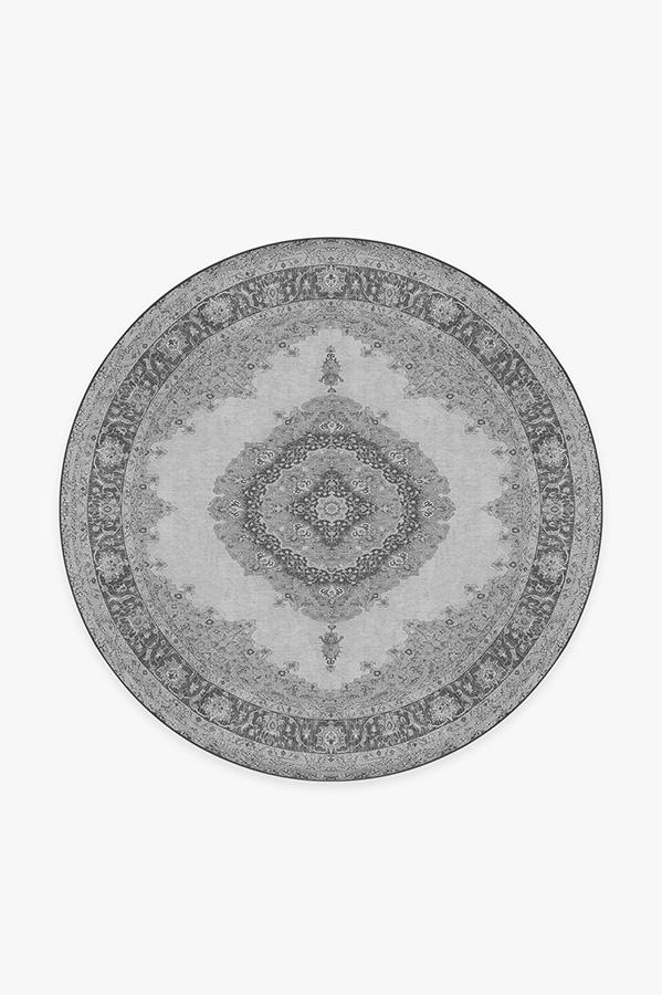 Washable Rug Cover & Pad | Victoria Grey Rug | Stain-Resistant | Ruggable | 6' Round