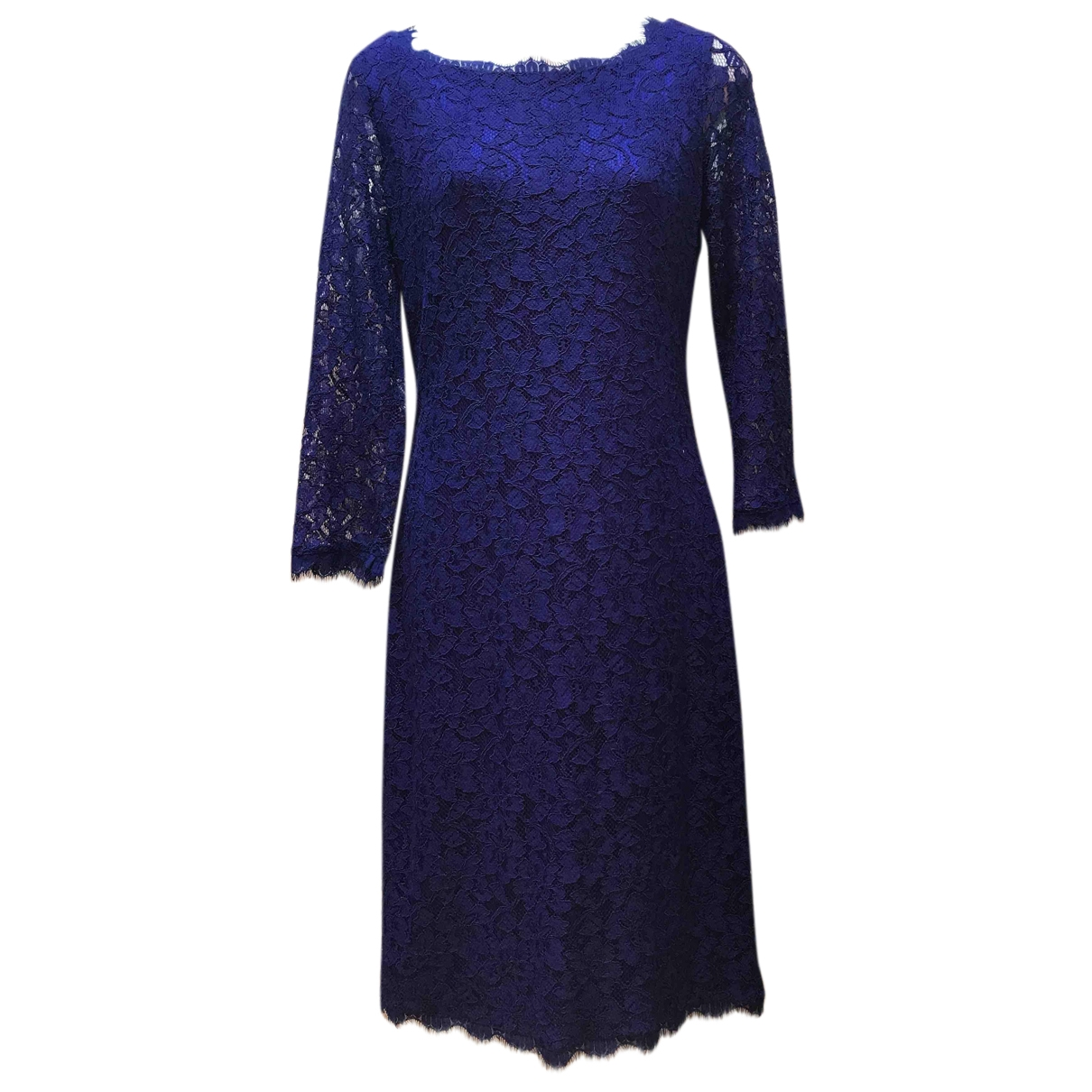 Diane Von Furstenberg \N Blue Lace dress for Women 6 US