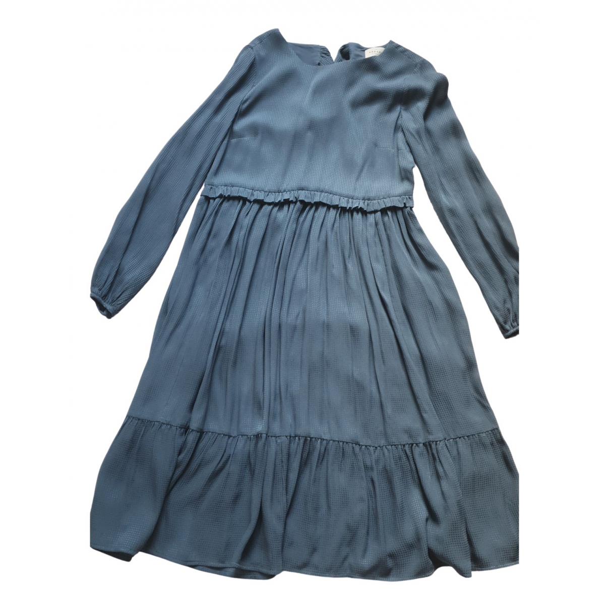 Sezane Fall Winter 2019 Kleid in  Blau Seide