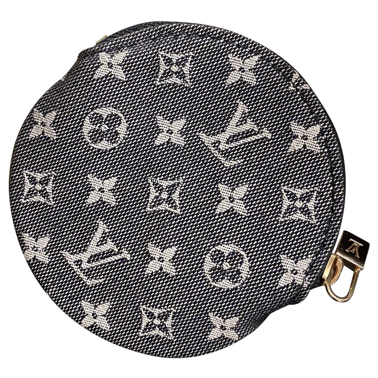 Louis Vuitton \N Kleinlederwaren in  Anthrazit Baumwolle
