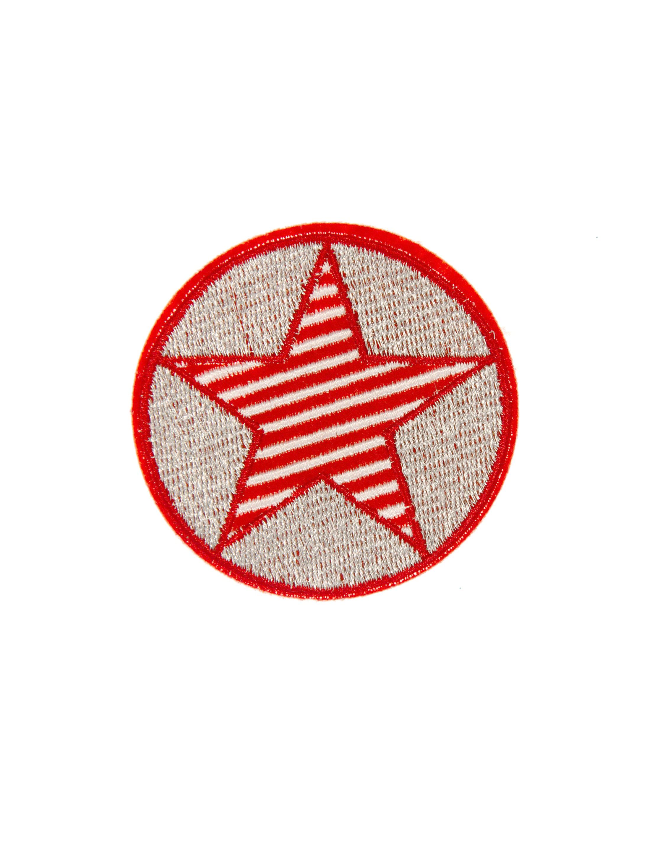 Kostuemzubehor Aufnaeher/Buegelbild Stern rot/weiss 6cm