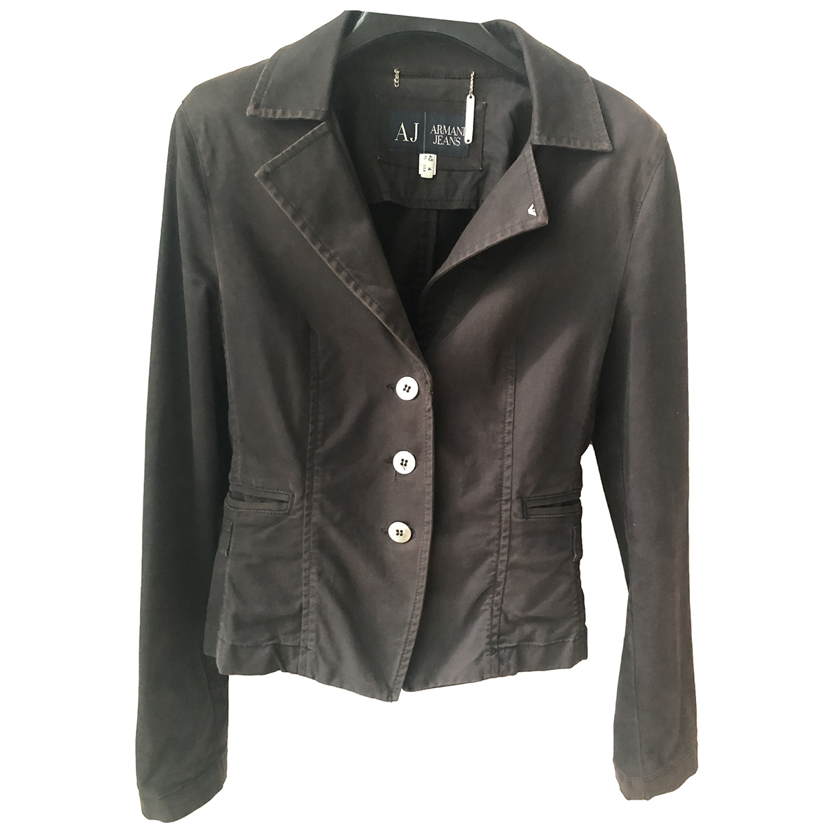 Armani Jeans \N Black Cotton jacket for Women 40 IT