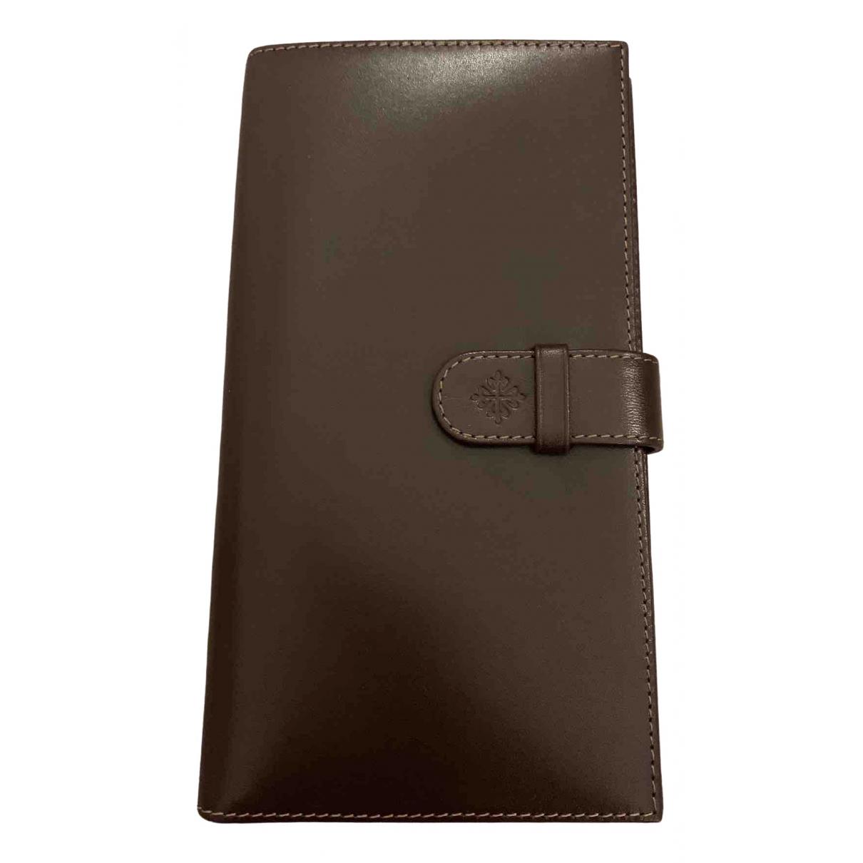 Patek Philippe \N Brown Leather Small bag, wallet & cases for Men \N