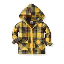 Toddler Boys Tartan Flap Pocket Coat