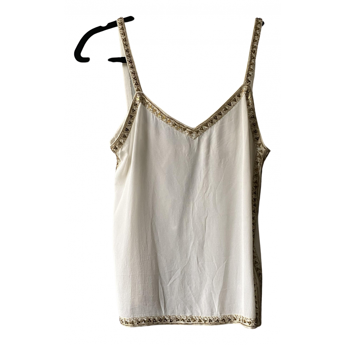 Club Monaco N White Silk  top for Women XS International