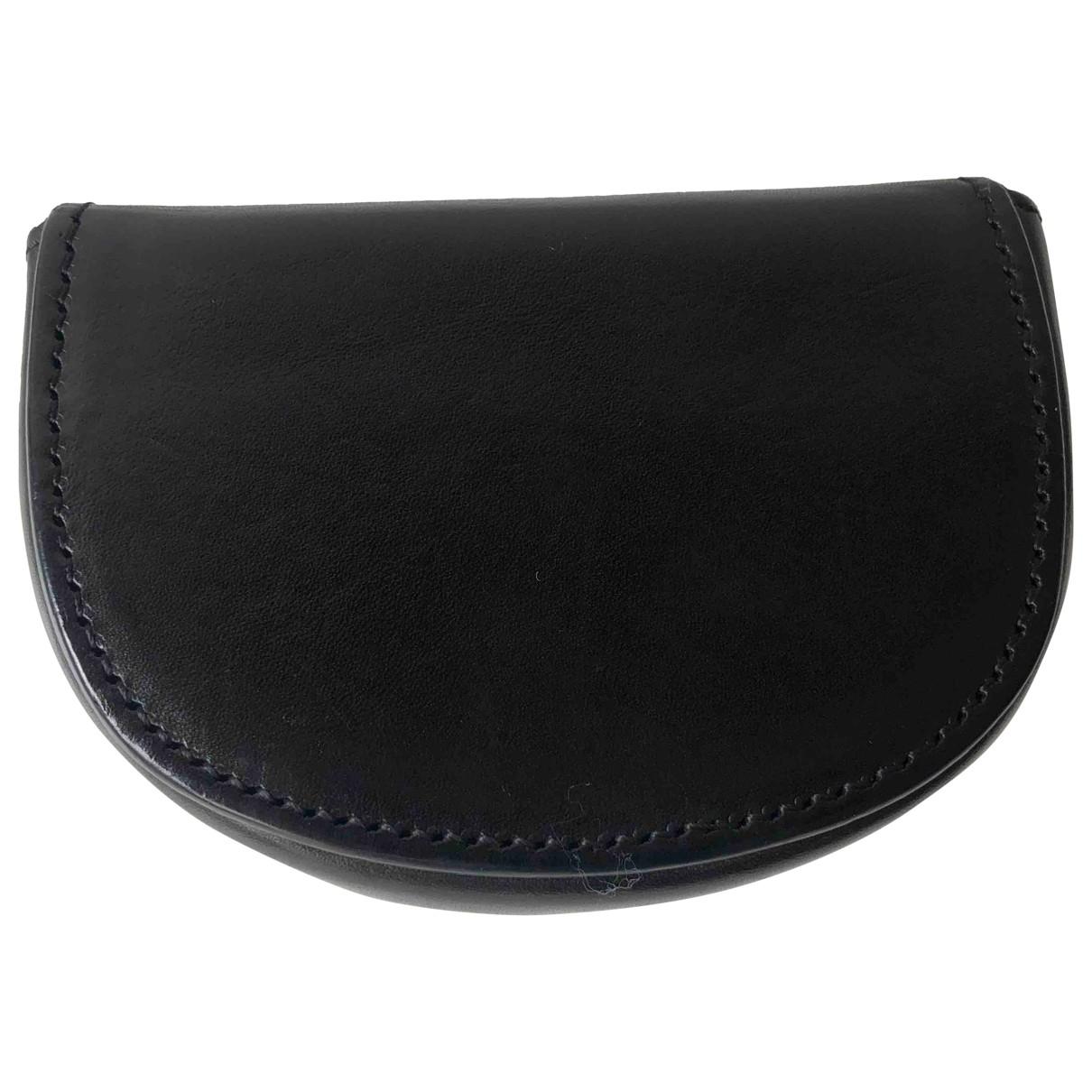 Ann Demeulemeester \N Black Leather Purses, wallet & cases for Women \N