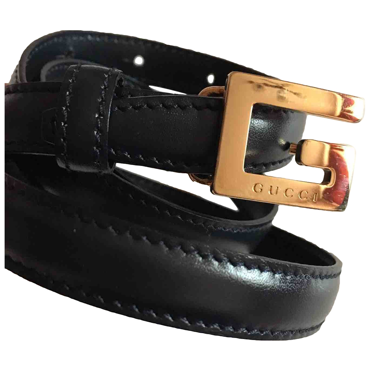 Gucci \N Black Leather belt for Women 80 cm