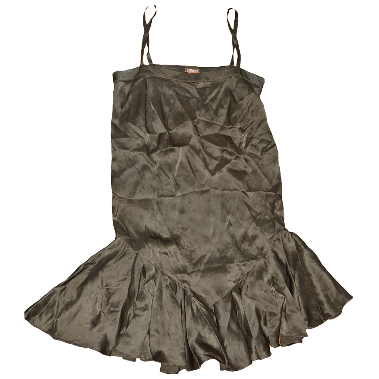 Galliano - Robe   pour femme en soie - kaki