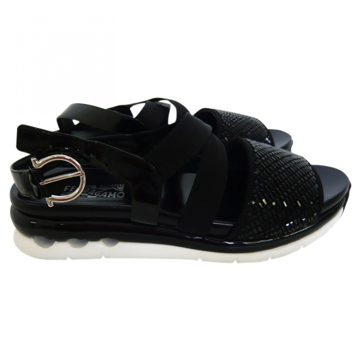 Salvatore Ferragamo \N Black Leather Sandals for Women 39 EU