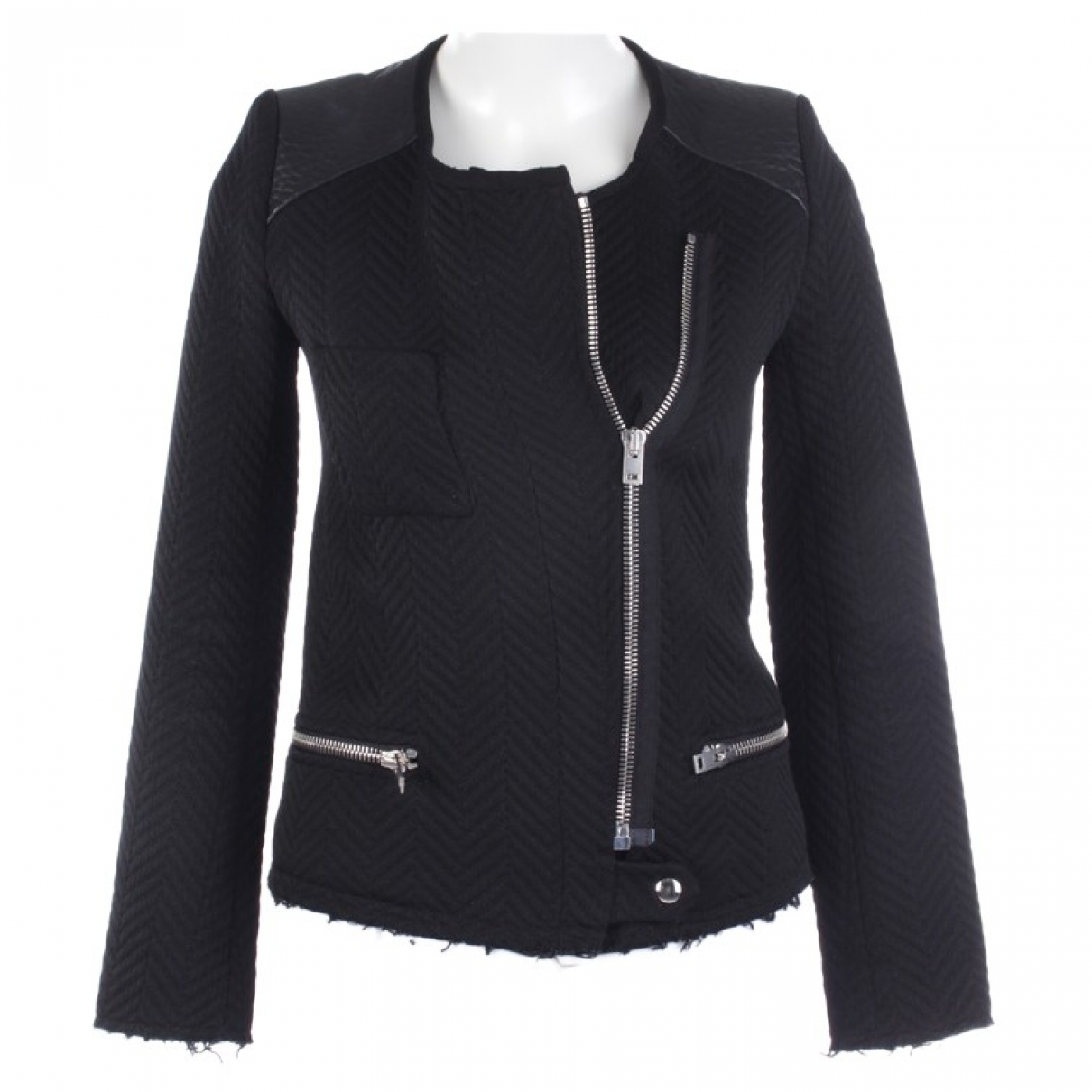 Iro N Black Cotton jacket for Women 32 FR