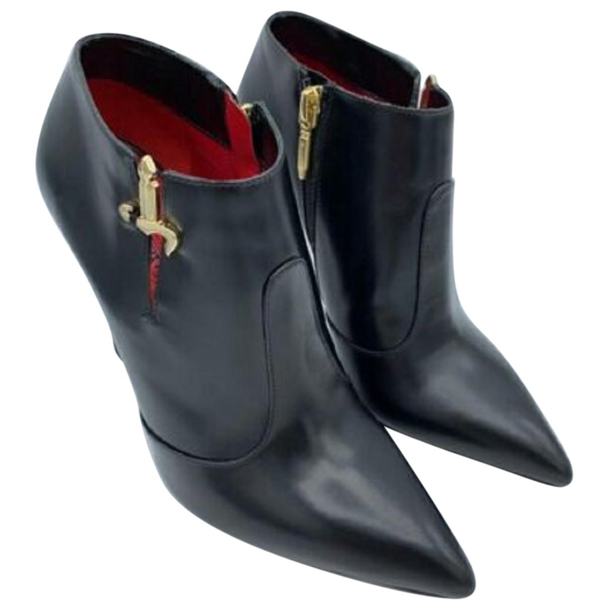 Cesare Paciotti - Boots   pour femme en cuir - noir