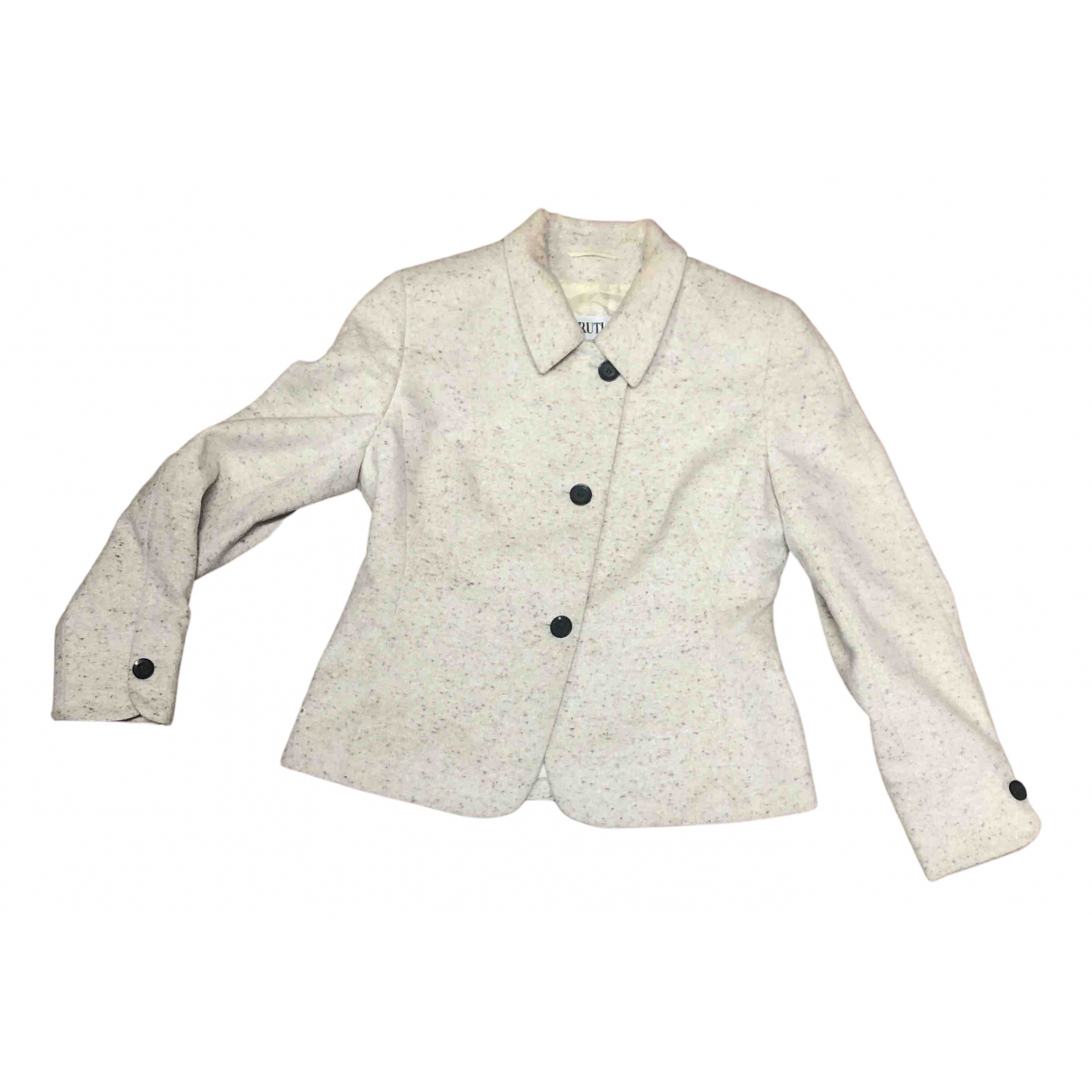 Cerruti N White Wool jacket for Women 44 IT
