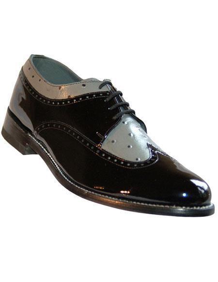 Men's Genuine Patent Lace Up Cushion Insole Shoes