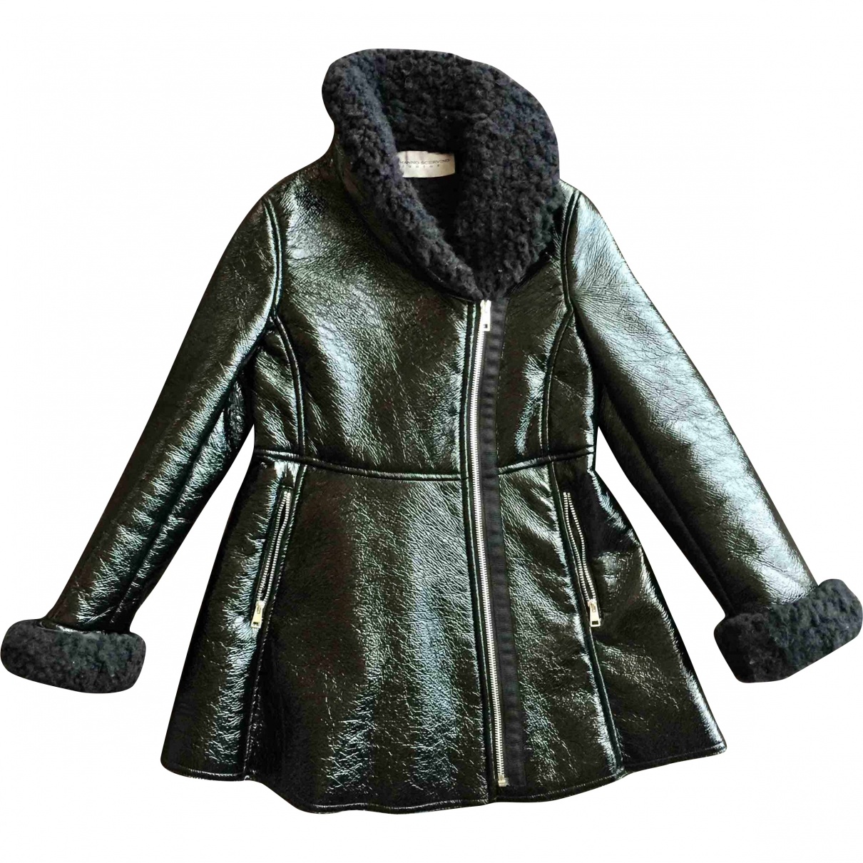 Ermanno Scervino - Blousons.Manteaux   pour enfant en fourrure synthetique - noir