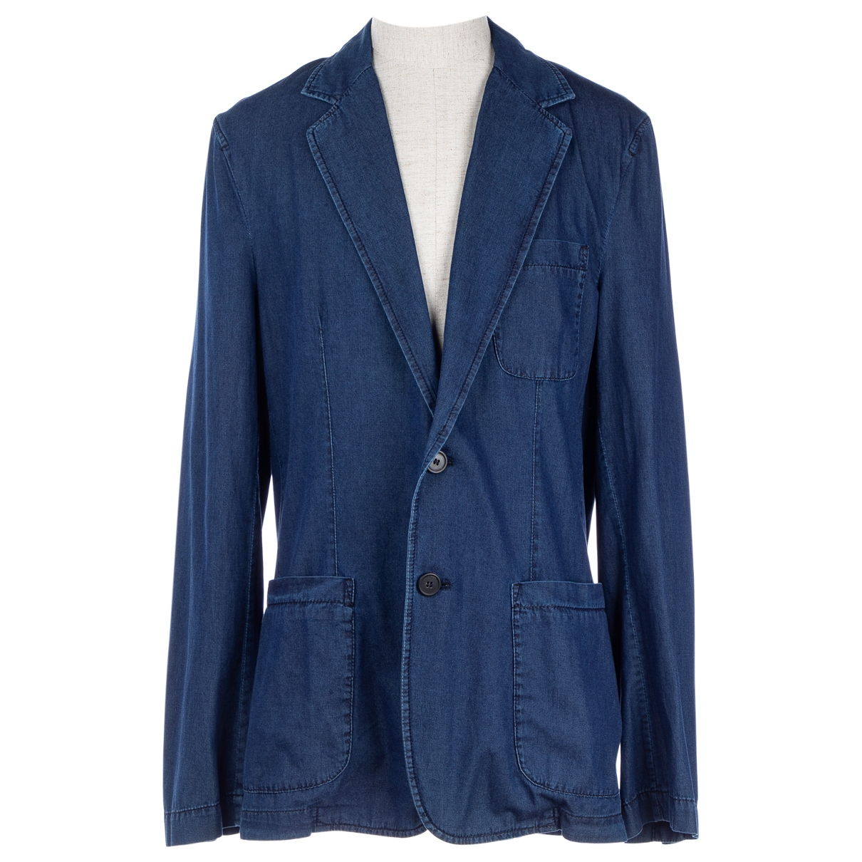 Lanvin \N Jacke in  Blau Denim - Jeans