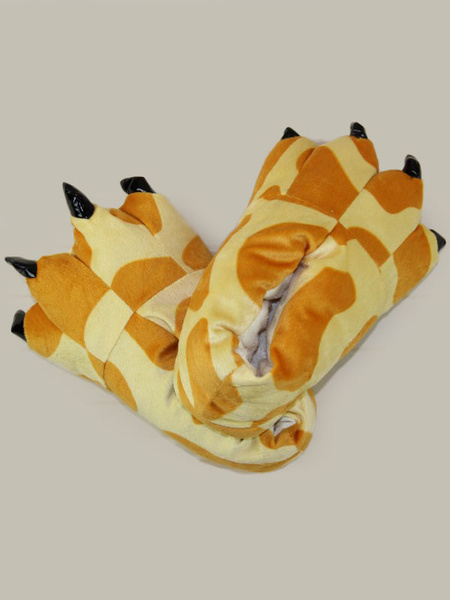Milanoo Tiger Kigurumi Shoe Cover Winter Flannel Unisex Footwear For Kids Halloween