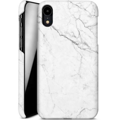 Apple iPhone XR Smartphone Huelle - White Marble von caseable Designs