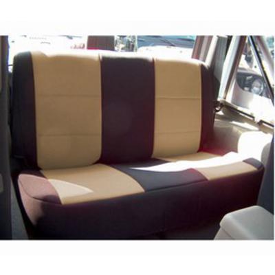 Coverking Neoprene Rear Seat Cover (Black/Tan) - SPC144
