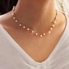 Halskette mit Perlen Anhaenger 1 Stueck