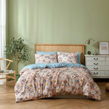 Daisy Print Bedding Set Without Filler