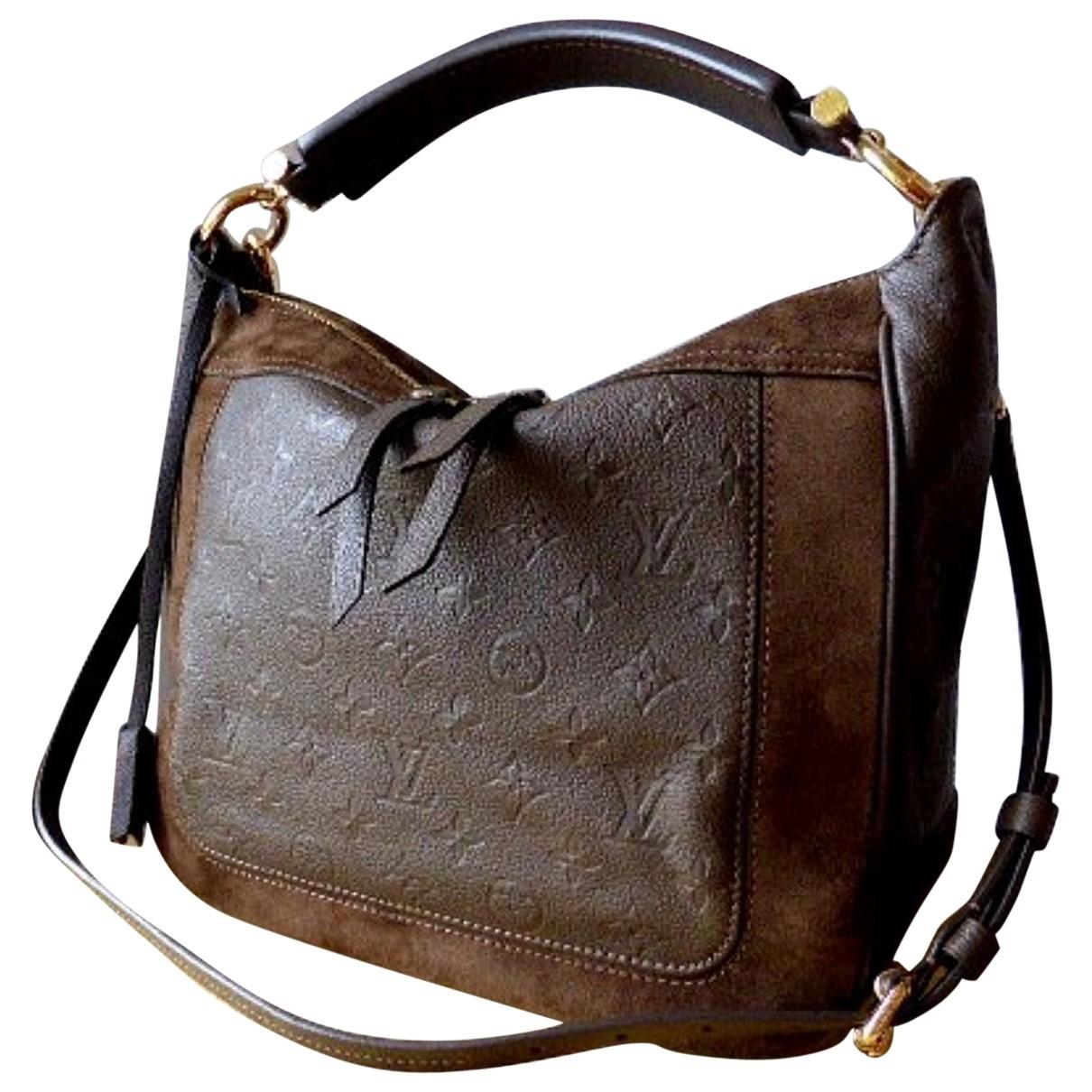 Louis Vuitton \N Brown Suede handbag for Women \N