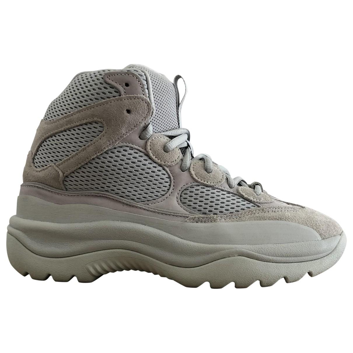 Yeezy X Adidas - Bottes.Boots   pour homme en suede - ecru