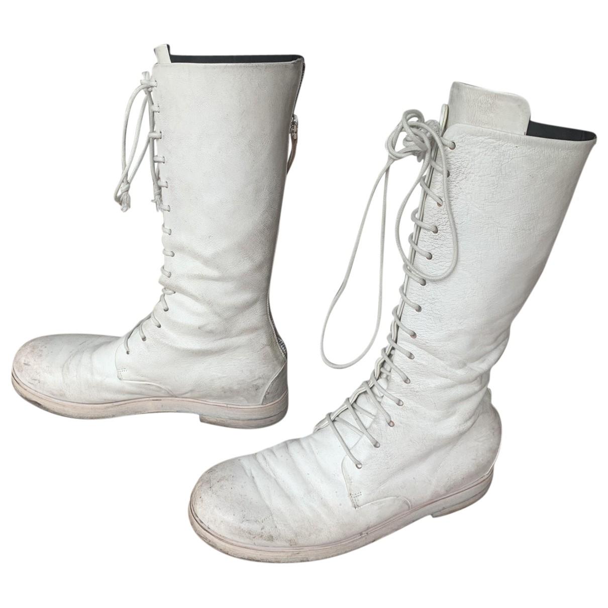 Marsell - Bottes   pour femme en cuir - blanc