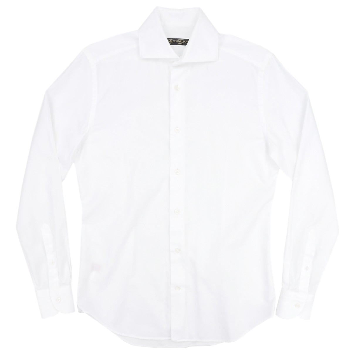Corneliani \N White Cotton Shirts for Men 38 EU (tour de cou / collar)