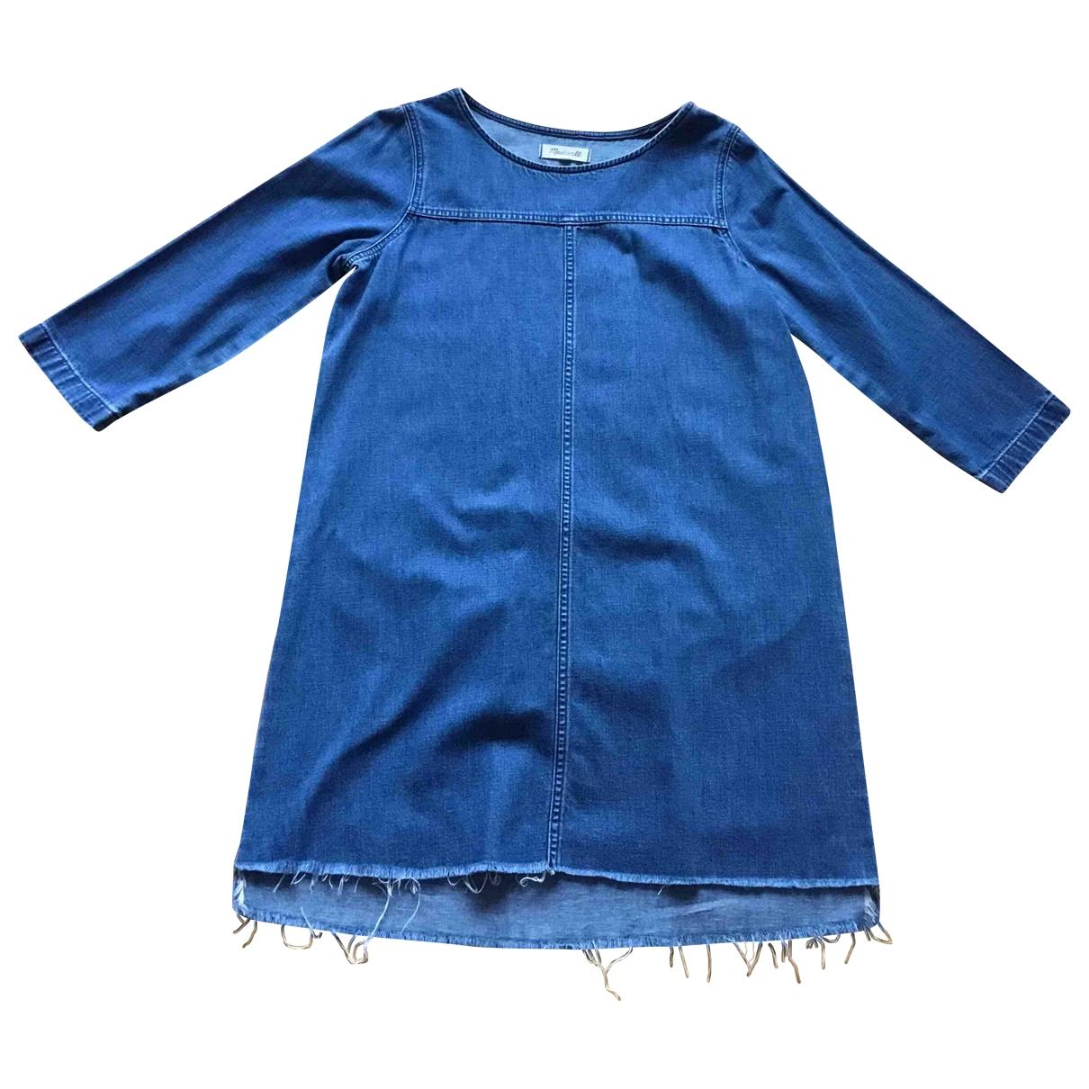 Madewell - Robe   pour femme en coton - bleu