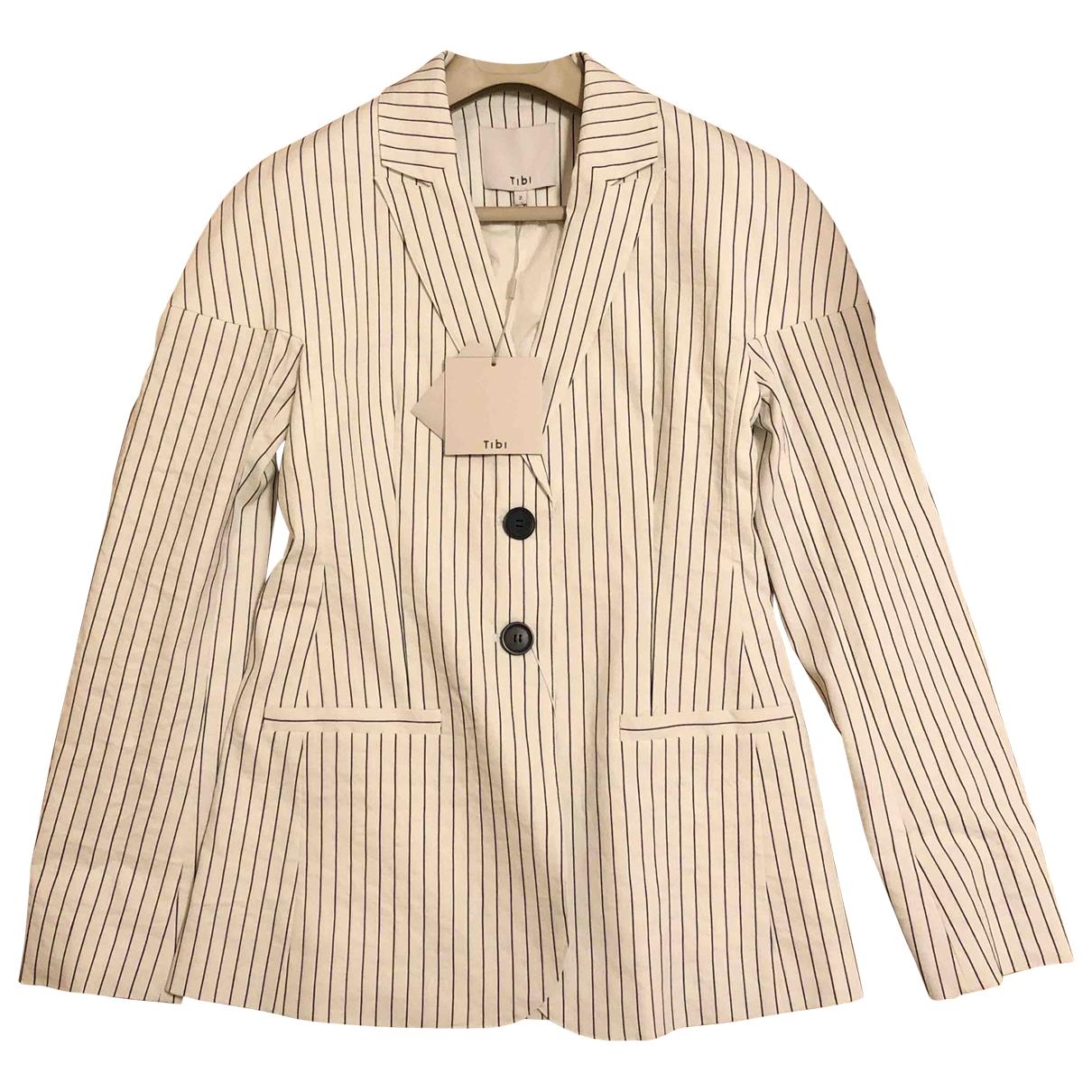 Tibi - Veste   pour femme en coton - blanc