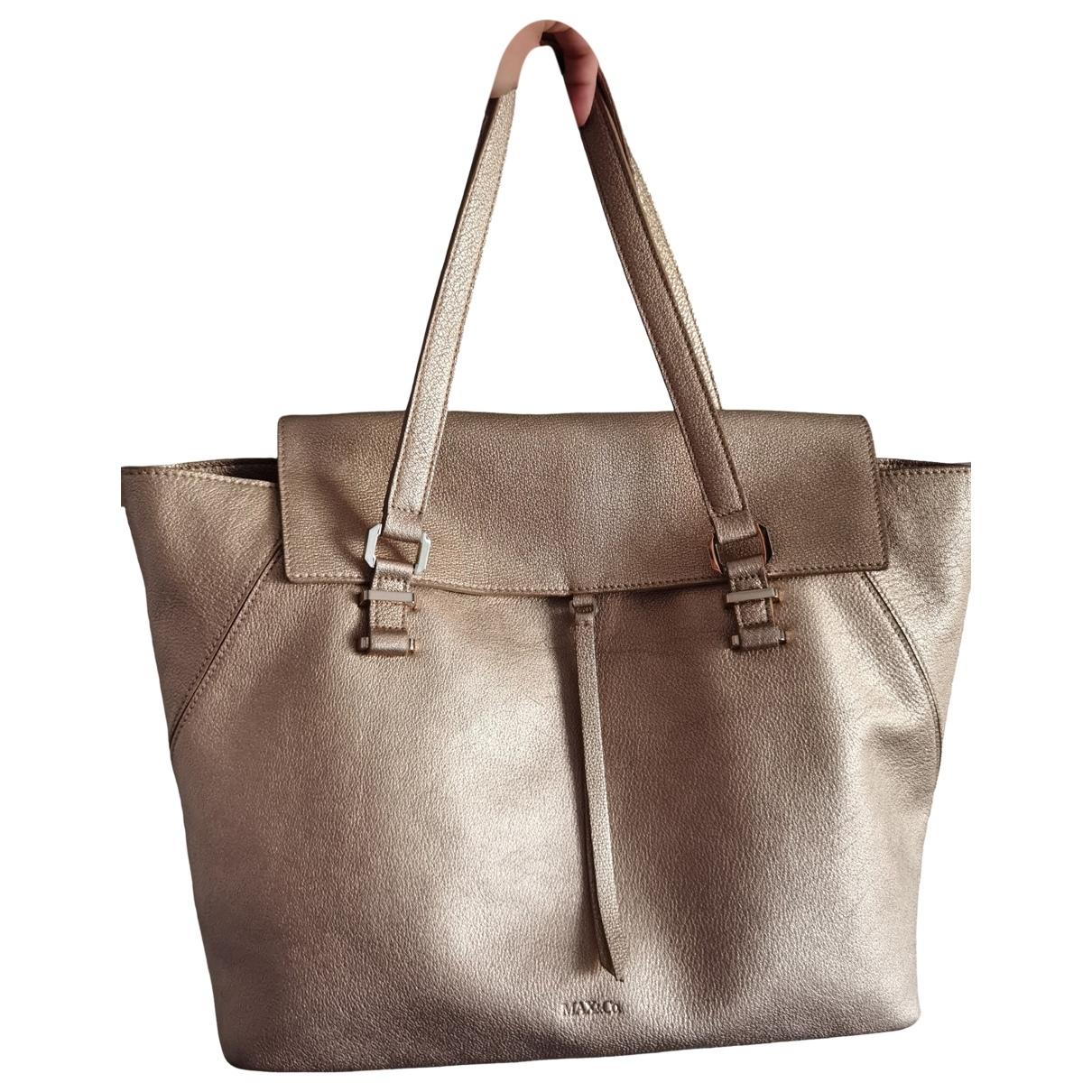 Max & Co \N Gold Leather handbag for Women \N