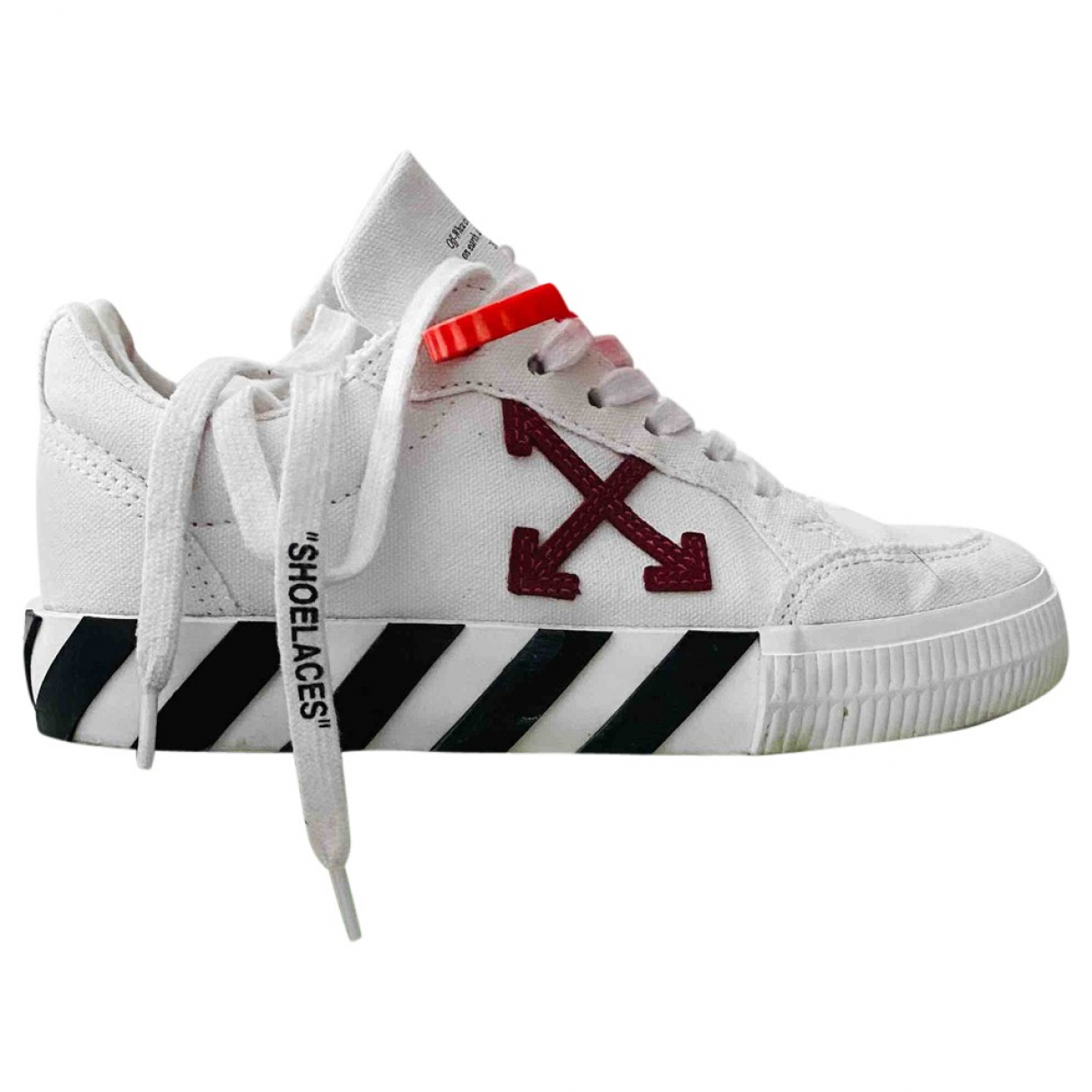 Off-white Vulcalized White Cloth Trainers for Women 35 IT